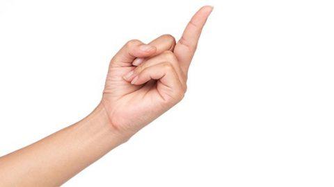Rude middle finger