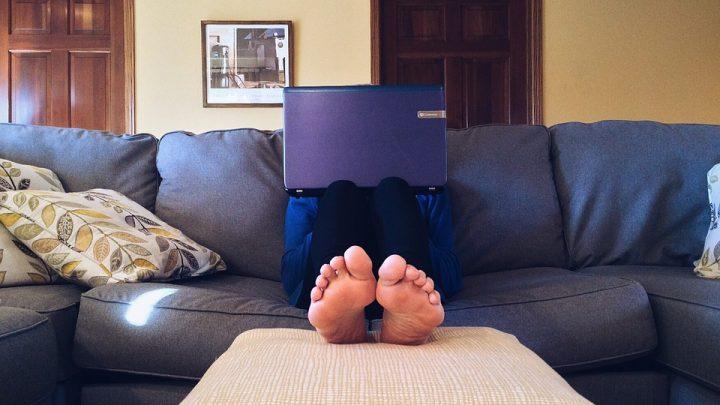 Home on sofa