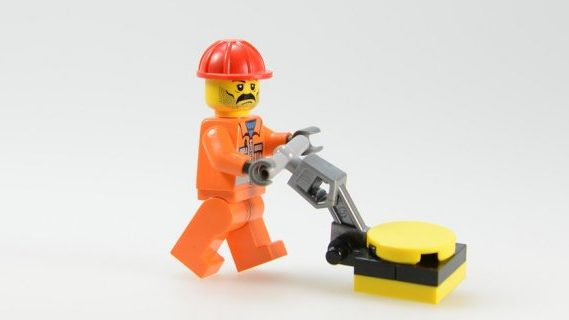 Community service lego man