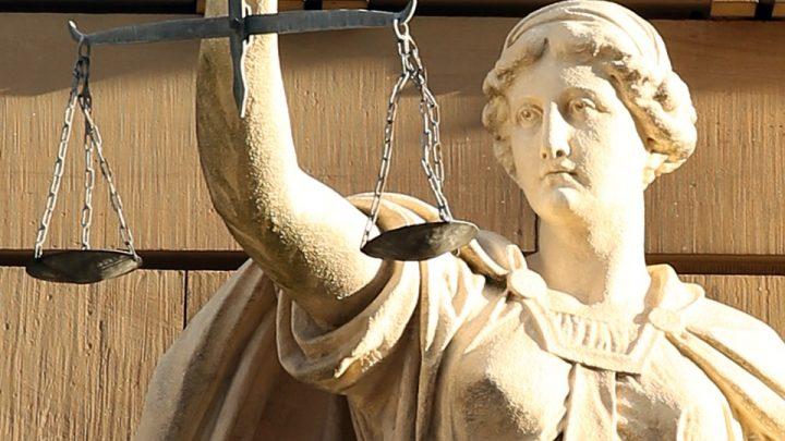 Justice statue face