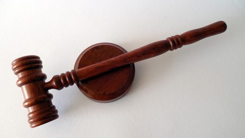 Gavel and coaster