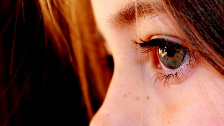 Young girls eyes