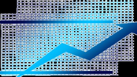 Up arrow on a graph