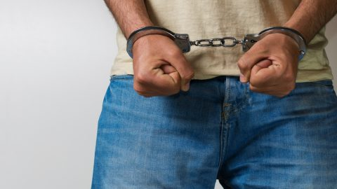 Arrested male