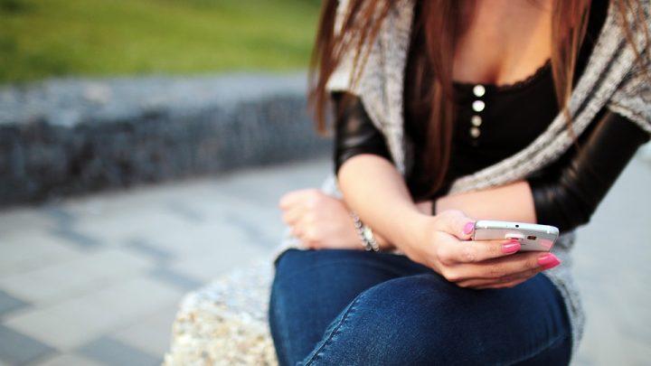 Girl texting