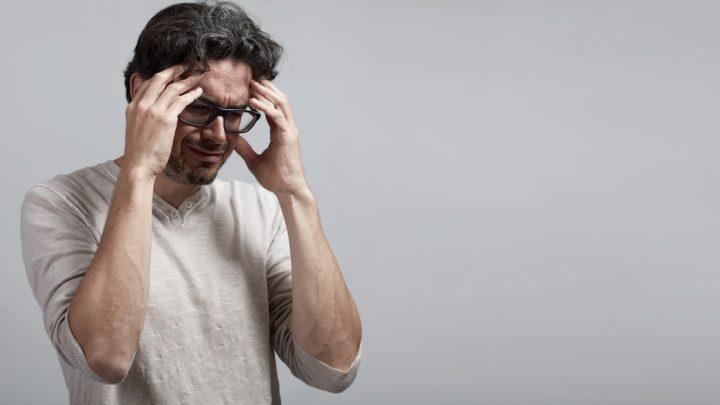 Male with headache