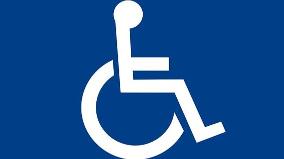 Disabled parking symbol