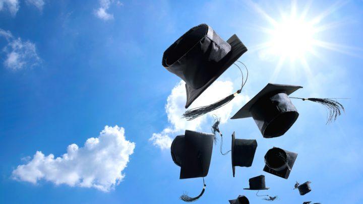 Hats of graduates