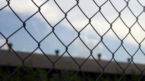 Jail metal fence