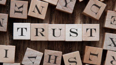 Letters spelling trust
