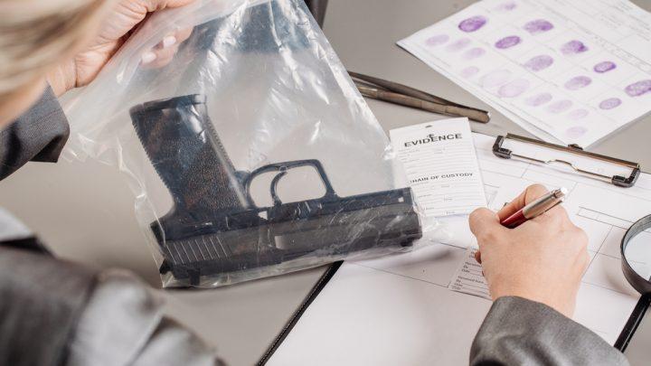 Gun in forensics