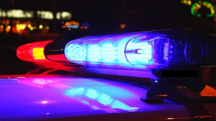 Police car siren lights