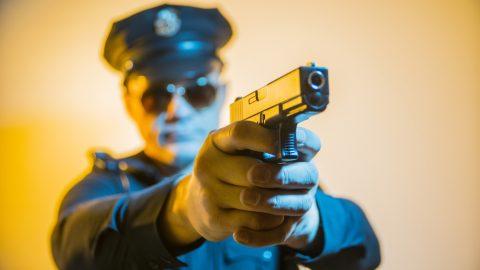 Police shoots gun