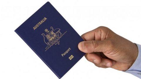 Holding Australian passport