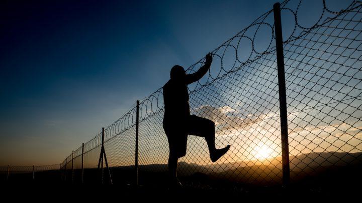 Prison escape at night