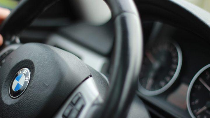Steering wheel of a BMW