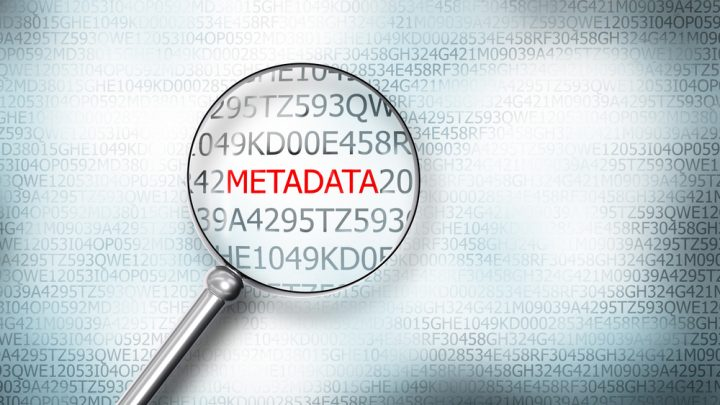 Metadata screen