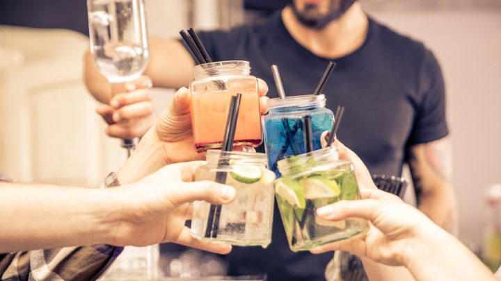 Cocktails with friends