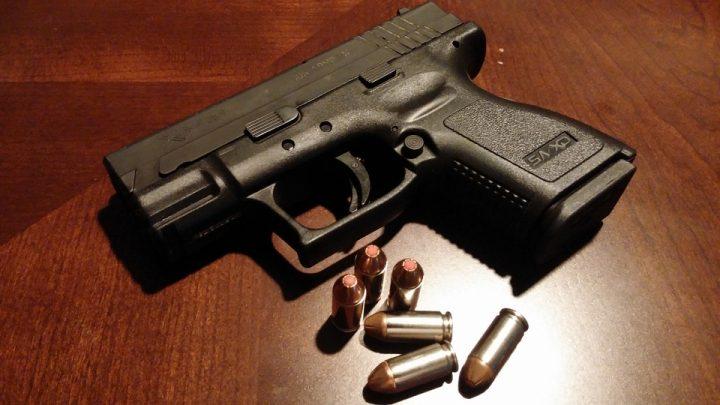 Handgun with bullets