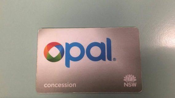 Opal card concession