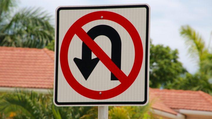 illegal u turn sign