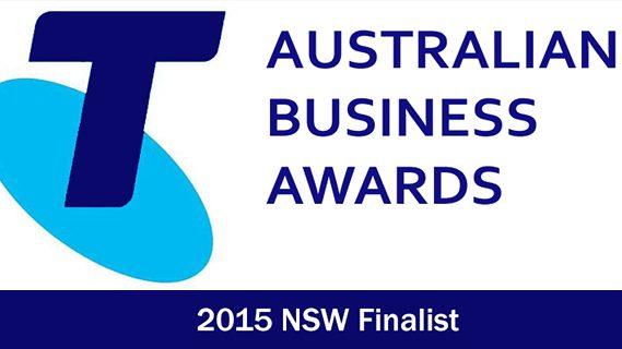 Telstra business awards finalist in 2015