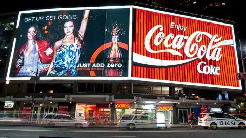 Kings Cross Coca Cola billboard
