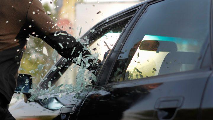 Damaged car window
