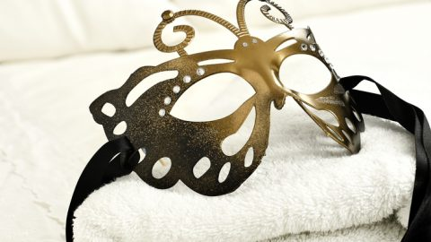 Mask on pillow