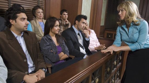 Jurors at a trial