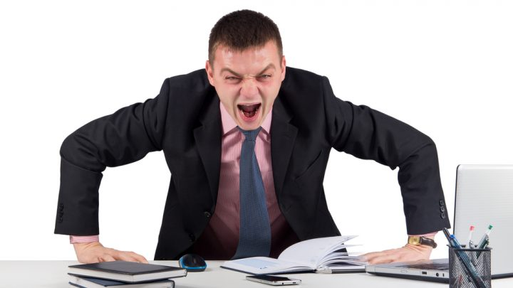 Yelling business man