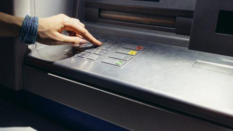 ATM at night