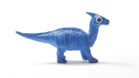 Blue toy dinosaur