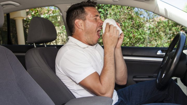 Sneeze while driving
