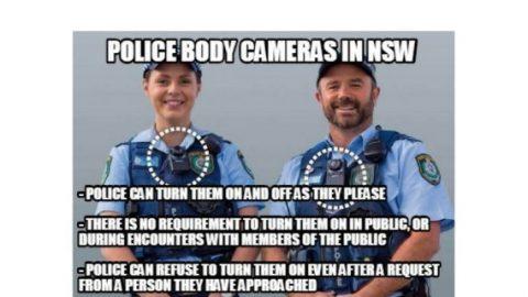 Police body camera meme