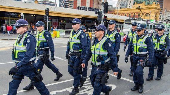 Police on Australian road