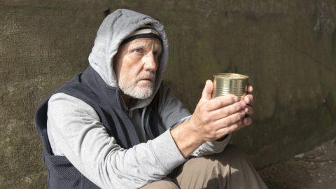 Homeless begger