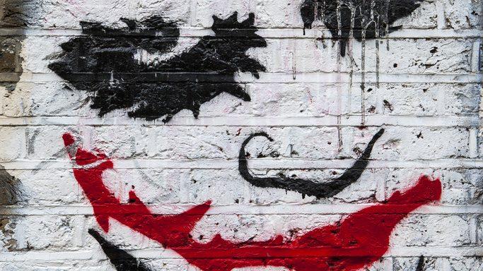 Joker spray paint