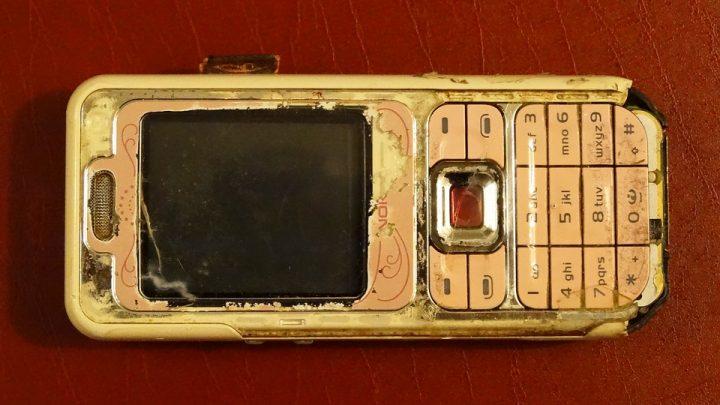 Damaged Nokia phone