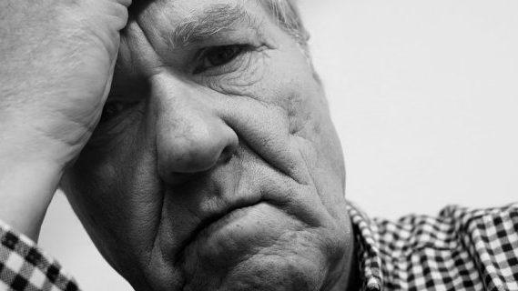Old man upset