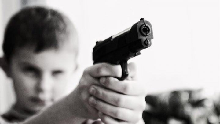 Boy with a gun