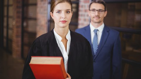 Male and female barrister