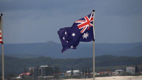 Australian flag pole