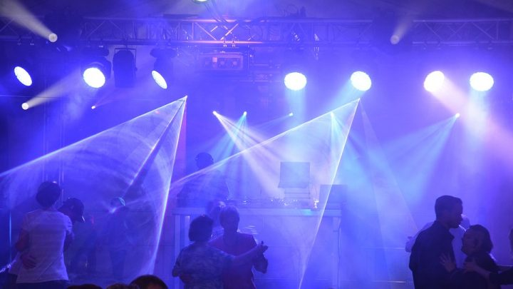 Club with laser lights