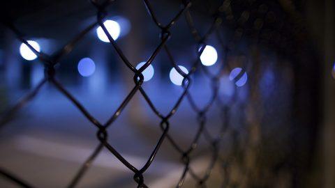 Prison at night