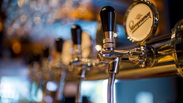 Beer tap in bar