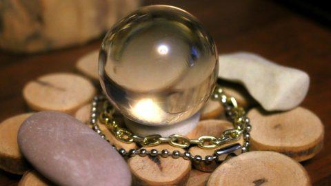 Glass ball of a fortune teller