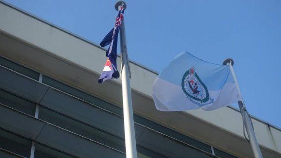 Australian and Police flag poles