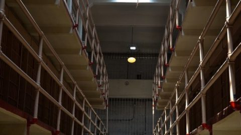 Prison hall of cells