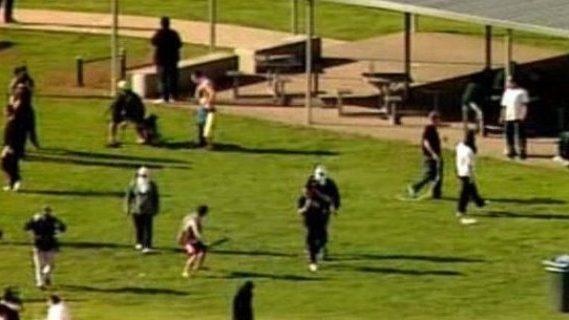 Prison riot in Victoria